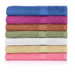 CrystalTowels 7-Pack Bath Towels Extra-Absorbent 100% Cotton