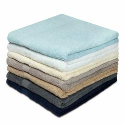 Cotton Craft - 7 Pack Multi Color Bath Towels - 100% Ringspu