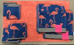 Betsey Johnson Flamingo Bath Towel Wash Cloth Hand Towel Rug