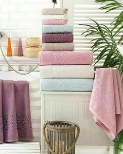 8 Oriental Pattern Turkish 100% Cotton Towels : 2 Bath 2 Han