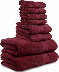 Maura 8 Piece Bath Towel Set 2 Bath Towels, 2 Hand Towels, 4