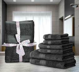8 Piece Towel Set, 700 GSM, 2 Bath Towels, 2 Hand Towels and