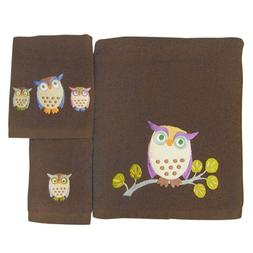 Allure Home Creations Awesome Owls 100-Percent Cotton 3-Piec