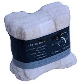 Charisma Luxury Towels Set: 2 Hand Towels & 2 Wash Cloths ,