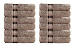 Cotton Craft 12 Pack - Ultra Soft Extra Large Wash Cloths 12