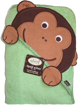 Extra Large 40x30 inch, Monkey Hooded Towel for Baby Bath, F
