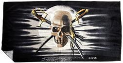 KAUFMAN - Patch Skull Printed Beach Towel- by ROYCE