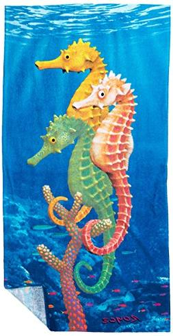 KAUFMAN - Seahorses Printed Beach Towel