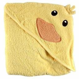 Luvable Friends Animal Face Hooded Woven Terry Baby Towel, D