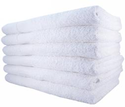 Hotel-Spa-Pool-Gym Cotton Hair & Bath Towel - 12 Pack, White
