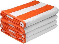 Utopia Towels Large Beach Towel, Pool Towel, in Cabana Strip
