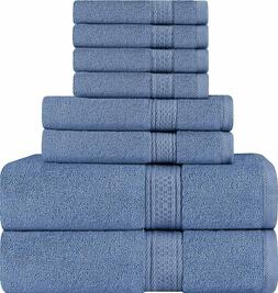 Utopia Towels Premium 8 Piece Towel Set  - 2 Bath Towels, 2
