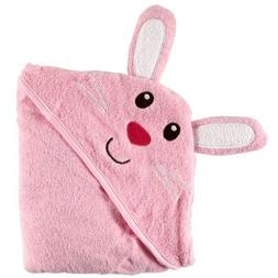 Luvable Friends Animal Face Hooded Woven Terry Baby Towel, B
