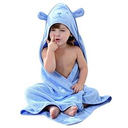 Baby Hooded Towel with Bear Ear- Soft and Thick 100% Cotton