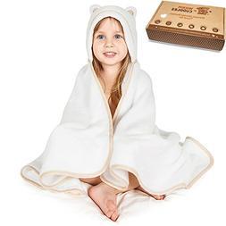 Premium Toddler Towel with Hood | Organic Bamboo Toddler Hoo
