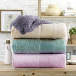 Bamboo Bath Towels 2Pack Soft Absorbent Antifungal Hypoaller