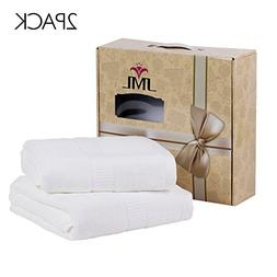 JML Bamboo Towels, 580GSM Heavy Bath Towels  - Soft, Absorbe