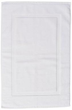 AmazonBasics Banded Bath Mat, White