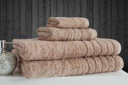SALBAKOS Barnum 4 Turkish Combed Cotton Family Towel Set Bei