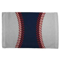 Baseball League Navy Blue and White All Over Sport Towel