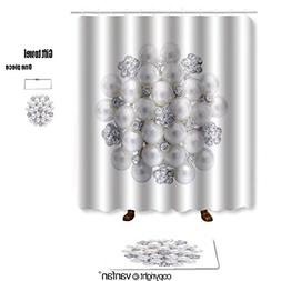 vanfan bath sets with Polyester rugs and shower curtain roun