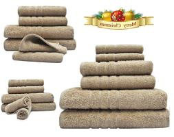 Bath Towel 6 Piece Set Bathroom Towels 100% Egyptian Cotton