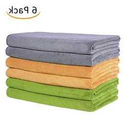 """JML Microfiber Towels, Camel/Grey/Teal, 27"""" x 55"""""""