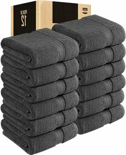4 Pack 700 GSM Cotton Bath Towels Set 27x54 Inches Utopia To