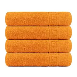 Bath Towel Cotton Set 4 Pcs Towels 28x56 Inch 500GSM Extra S