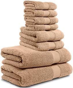 8 Piece Bath Towel Set. 2017. 2 Bath Towels, 2 Hand Towels,