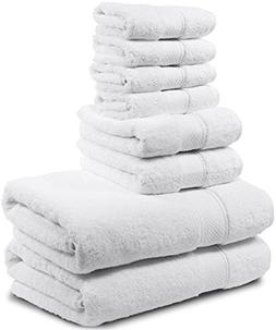8 Piece Bath Towel Set. 2017. 2 Bath Towels, 2 Hand Towels,