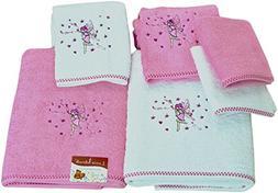 SALBAKOS Bath Towel Set for Kids - 6 Piece Set Includes Bath
