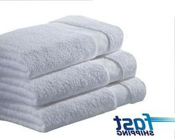 2 pack white hotel bath towels 24x48 new cardinal 100% cotto