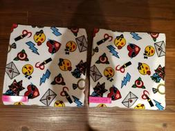 "Betsey Johnson Bath Towels EMOJI Lot Of 2 Size 29""x52"" NWT!"