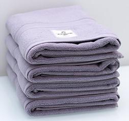"Premium Bath Towels 30"" x 54""  Lilac Gray"