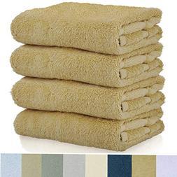 Cotton Craft - 7 Pack Multi Color Bath Towels - 100% Ringspu