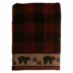 New Saturday Knight Bathroom Sundance Bear Red Plaid Bath To