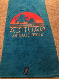 "Nautica 100/% Cotton Pool Bath Spa Beach Towel 35x66/"" Sharks New Navy"