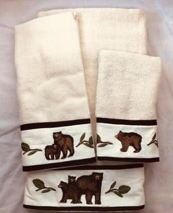 Park Designs BLACK BEAR Lodge Cabin Border Terry Towel