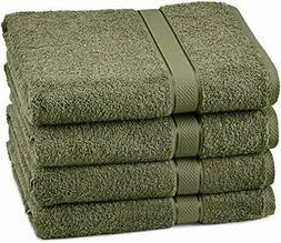 Pinzon Egyptian Cotton Bath Towel Set  - Moss