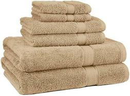 Pinzon Blended Egyptian Cotton 6-Piece Towel Set, Driftwood