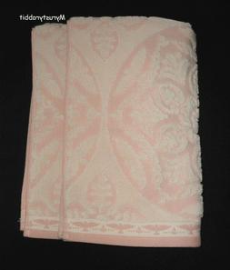 Caro Home Blush Pink Damask Hand Towels Set of 2 - Terryclot