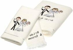 Avanti Linens Bride & Groom Bath Towel, Hand Towel, Fingerti
