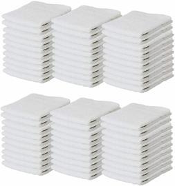 Bulk 60 Pack of Washcloths - 12 x 12 White Fingertip Towels