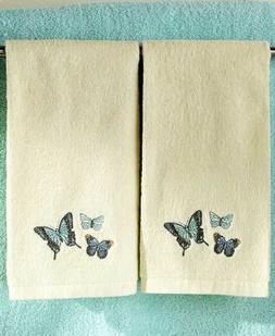 Butterfly Hand Towels Monarch Butterflies Bath Bathroom Kitc