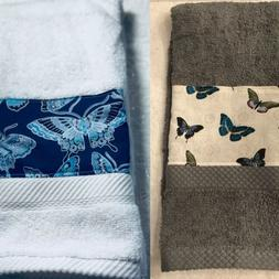 Butterfly towel - Gray or White Kitchen Bath home decor - ha