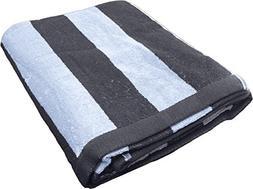 Oversized Cotton Beach Towel - Cabana Stripe Soft and Lightw
