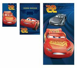 Disney Cars Lightning Mcqueen 3 Piece Beach Travel Bath Towe