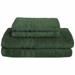 Charisma 100% Hygro Cotton 4-piece Bath Towel Set-Dark Green