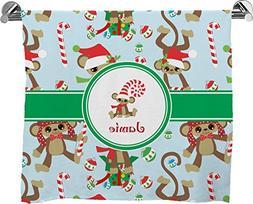 Christmas Monkeys Full Print Bath Towel